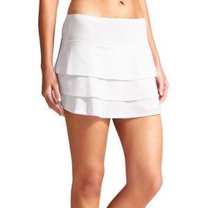 Athleta Swagger Skort white tennis skirt 819219